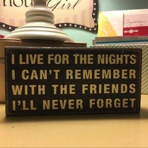 Wood Block Friendship Sign